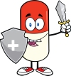 6300_pill_capsule_guarder_with_shield_and_sword